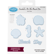 Seashells At The Beach - JustRite Custom Dies 7/Pkg