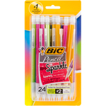 Assorted Barrels - BIC Xtra Sparkle Mechanical Pencils 24/Pkg