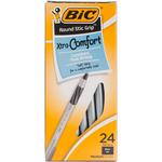 Black - BIC Round Stic Grip Xtra Comfort Ballpoint Pens 24/Pkg