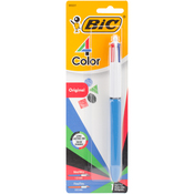 Black, Blue, Red, & Green - BIC 4-Color Retractable Ballpoint Pen 1/Pkg