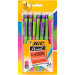 Assorted Barrels - BIC Xtra Strong Mechanical Pencils 24/Pkg