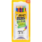 Black - BIC Xtra-Fun #2 Pencils 8/Pkg