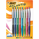 Assorted - Atlantis Original Retractable Ballpoint Pen 8/Pkg