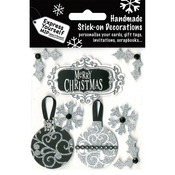 Black Merry Christmas Banner & Baubles - Express Yourself MIP 3D Stickers