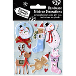 Snowcouple In Water Globe & Stocking - Express Yourself MIP 3D Stickers