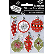 Red & Green Ornaments - Express Yourself MIP 3D Stickers