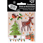 Tree, Reindeer & Robin on Branch - Express Yourself MIP 3D Stickers