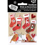 4 Stockings & 2 Robins - Express Yourself MIP 3D Stickers