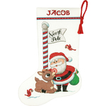 """16"""" Long 14 Count - Rudolph Stocking Counted Cross Stitch Kit"""