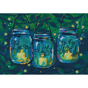 """7""""X5"""" 14 Count - Be A Light Mini Counted Cross Stitch Kit"""
