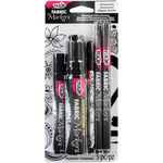 Black Assorted Tips - Tulip Fabric Markers Variety Pack 5/Pkg