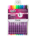 Assorted - Tulip Chisel-Tip Fabric Markers 10/Pkg