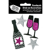 Champagne & Stars - Black & Purple - Express Yourself MIP 3D Stickers