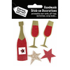 Wine Bottle & Stars - Red & Black - Express Yourself MIP 3D Stickers
