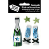 Green Striped Champagne Bottle - Express Yourself MIP 3D Stickers