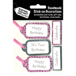 Pink & Silver Banners - Express Yourself MIP 3D Stickers