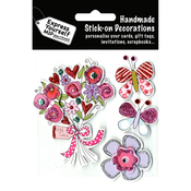 Flower Bouquet & Butterflies - Express Yourself MIP 3D Stickers