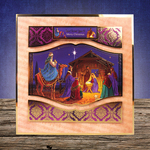 The Nativity - Hunkydory Christmas Classics A4 Topper Set