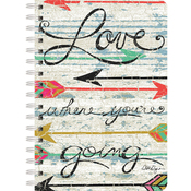 """Love Where You Go - Spiral Journal 6""""X8.25"""" 240 Pages"""