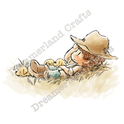 "Field Of Dreams - DreamerlandCrafts Cling Stamp 4""X7"""