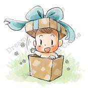 "Box Of Surprises - DreamerlandCrafts Cling Stamp 4""X7"""