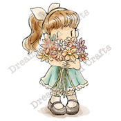 """You're Blooming Great - DreamerlandCrafts Cling Stamp 4""""X7"""""""
