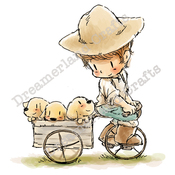 """Following The Leader - DreamerlandCrafts Cling Stamp 4""""X7"""""""