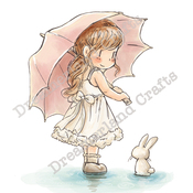 """Staying Dry - DreamerlandCrafts Cling Stamp 4""""X7"""""""