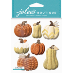 Metallic Pumpkins - Jolee's Boutique Dimensional Stickers