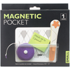4.75 X4  - Small Magnetic Pouch Baumgartens-Small Magnetic Pouch. This magnetic pouch works on most file cabinets, lockers, metal doors, refrigerators, whiteboards, metal desks, washing machines and more! This package contains one 4x4-3/4 inch magnetic pouch. Imported.