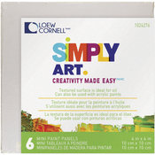 "Simply Art Paint Panels 4""X4"" 6/Pkg"