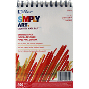 "100 Sheets - Simply Art Drawing Pad 6""X9"""