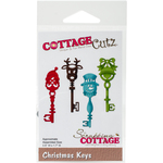 "Christmas Keys, .6""X1.7"" - CottageCutz Die"