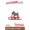 Scottie Dog On Sled - CottageCutz Die