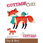 "Fox & Bird, 2.6""X1.8"" - CottageCutz Die"