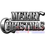 """Merry Christmas - Deep Red Cling Stamp 3""""X1.5"""""""