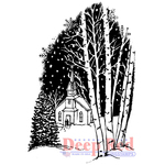 """Christmas Eve - Deep Red Cling Stamp 2""""X2"""""""