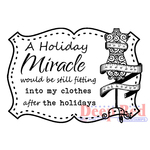 "Holiday Miracle - Deep Red Cling Stamp 2""X2"""