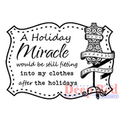 """Holiday Miracle - Deep Red Cling Stamp 2""""X2"""""""