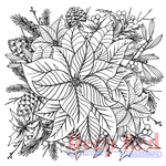 """Color Me Poinsettia - Deep Red Cling Stamp 2""""X2"""""""