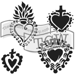 """Regal Hearts - Crafter's Workshop Template 6""""X6"""""""