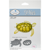 "Turtle, 2.6""X3.7"" - Elizabeth Craft Metal Die"
