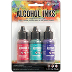 Beach Deco-Flamingo/Patina/Amethyst - Tim Holtz Alcohol Ink .5oz 3/Pkg