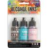 Retro Cafe-Pool/Pink Sherbert/Espresso - Tim Holtz Alcohol Ink .5oz 3/Pkg