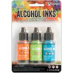 Spring Break-Valencia/Limeade/Turquoise - Tim Holtz Alcohol Ink .5oz 3/Pkg