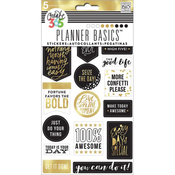 Gold - Seize The Day - Create 365 Planner Stickers 5 Sheets/Pkg