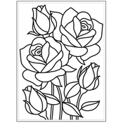 "Mosaic Rose - Embossing Folder 4.25""X5.75"""