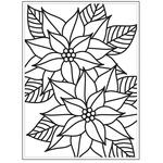 """Mosaic Poinsettia - Embossing Folder 4.25""""X5.75"""""""