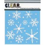 """Ice Crystal Snowflakes - Clear Scraps Stencils 6""""X6"""""""