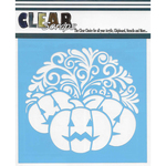 "Swirl Pumpkin - Clear Scraps Stencils 6""X6"""